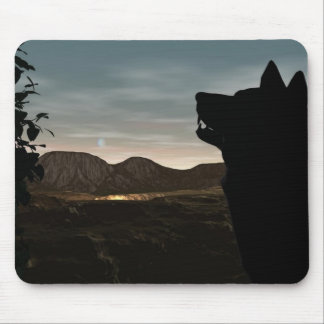Howling Night Mouse Pad