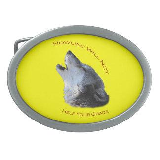 Howling Oval Belt Buckle