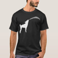 Howling Subaru Dog Dark T-Shirt (white design)