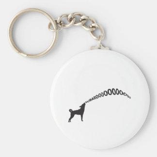 Howling Subaru Dog Keychain