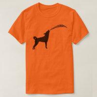 Howling Subaru Dog Light T-Shirt (black design)