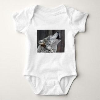 Howling Tundra Wolf Baby Bodysuit