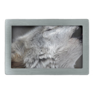 Howling Tundra Wolf Belt Buckle