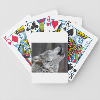 Howling Tundra Wolf Bicycle Playing Cards