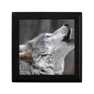 Howling Tundra Wolf Jewelry Box