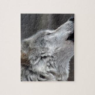 Howling Tundra Wolf Jigsaw Puzzle