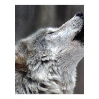 Howling Tundra Wolf Letterhead