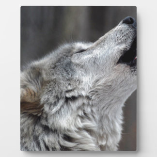 Howling Tundra Wolf Plaque