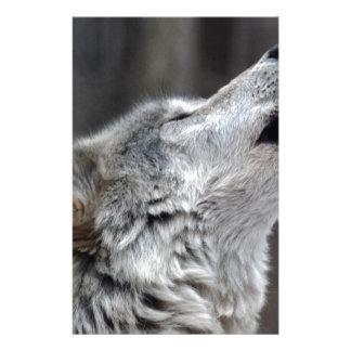 Howling Tundra Wolf Stationery