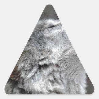 Howling Tundra Wolf Triangle Sticker