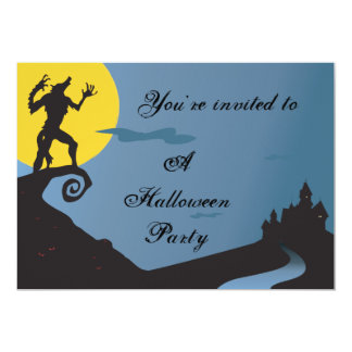 Howling Werewolf Halloween Party 5x7 Paper Invitation Card