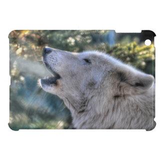 Howling White Arctic Wolf Wildlife Photo iPad Mini Case