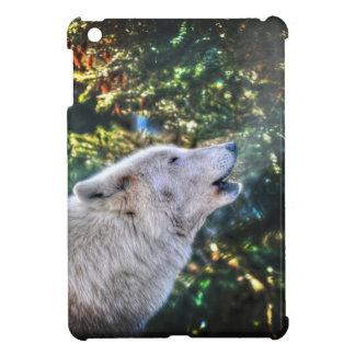 Howling White Arctic Wolf Wildlife Photo iPad Mini Covers