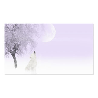 Howling white wolf business card template