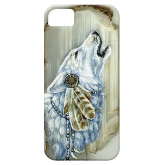 Howling White Wolf iPhone 5 Covers