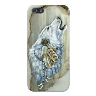 Howling White Wolf Case For iPhone 5