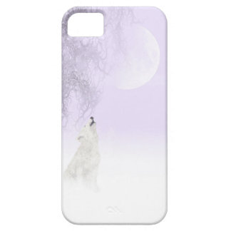Howling white wolf iPhone SE/5/5s case