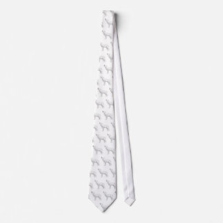 howling white wolf neck tie