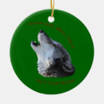 Howling Will Not Double-Sided Ceramic Round Christmas Ornament