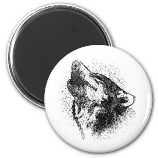 Howling Wolf 2 Inch Round Magnet
