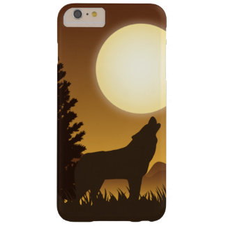 Howling wolf and bright Moon Barely There iPhone 6 Plus Case