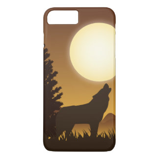Howling wolf and bright Moon iPhone 8 Plus/7 Plus Case