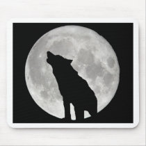 Howling Wolf and Moon Mouse Pad