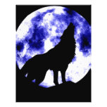 "Howling Wolf at Moon 8.5"" X 11"" Flyer"