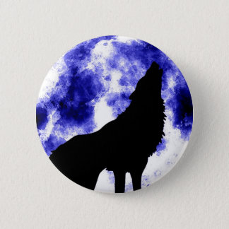 Howling Wolf at Moon Button
