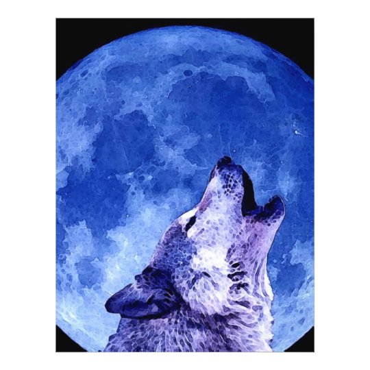 Howling Wolf at Moon Flyer