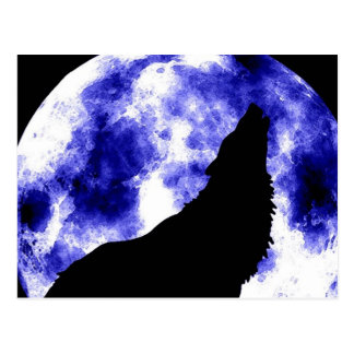 Howling Wolf at Moon Postcard