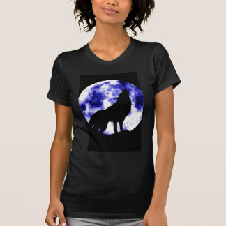 Howling Wolf at Moon Tee Shirts