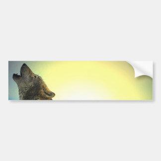 Howling Wolf at Sunset Bumper Sticker