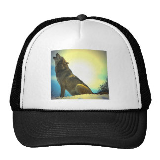 Howling Wolf at Sunset Trucker Hat