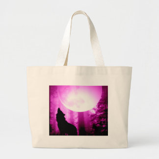 Howling Wolf Canvas Bags