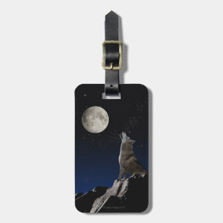 Howling Wolf Bag Tag