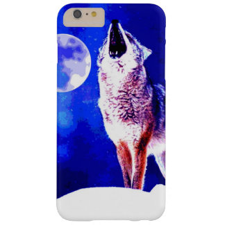 Howling Wolf & Blue Night Barely There iPhone 6 Plus Case
