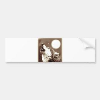 Howling Wolf Bumper Sticker