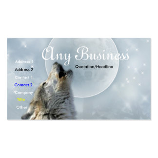 Howling Wolf busines card 02customizable Business Card