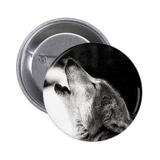 Howling Wolf Button