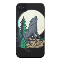 Howling Wolf Case-Mate iPhone 4 Case