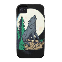 Howling Wolf Case-Mate iPhone 4 Covers