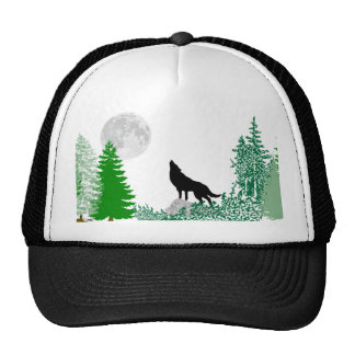 Howling Wolf Close Up Trucker Hat