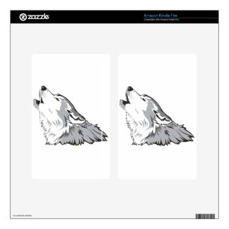 Howling Wolf Decals For Kindle Fire