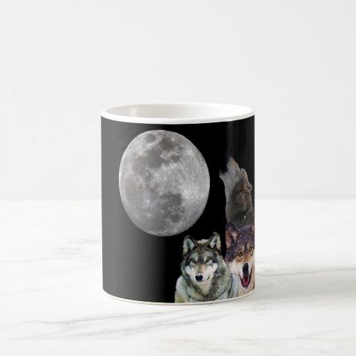 Howling Wolf design Coffee Mugs Zazzle
