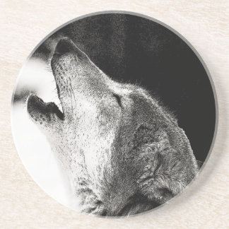 Howling Wolf Drink Coaster