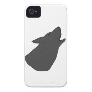 Howling Wolf Face iPhone 4 Cases