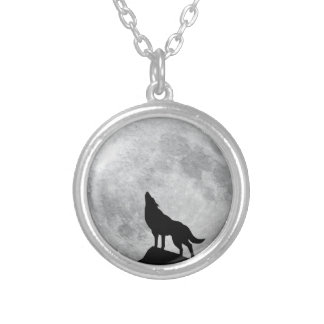 Howling Wolf Full Moon Necklace