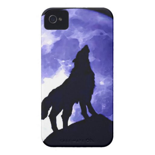 Howling Wolf & Fullmoon Case-Mate iPhone 4 Case