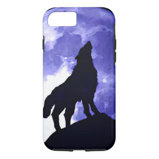 Howling Wolf & Fullmoon iPhone 7 Case